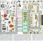 Схема электрооборудования ВАЗ-21093 и ВАЗ-21099 с высокой панелью приборов (исполнение люкс)