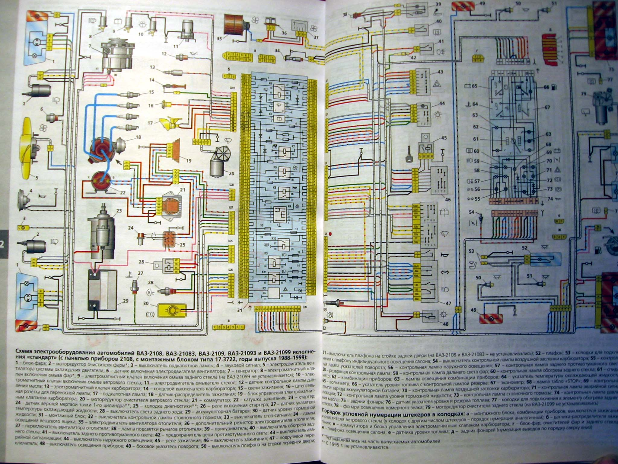 эл схема на ваз 21093 инжектор