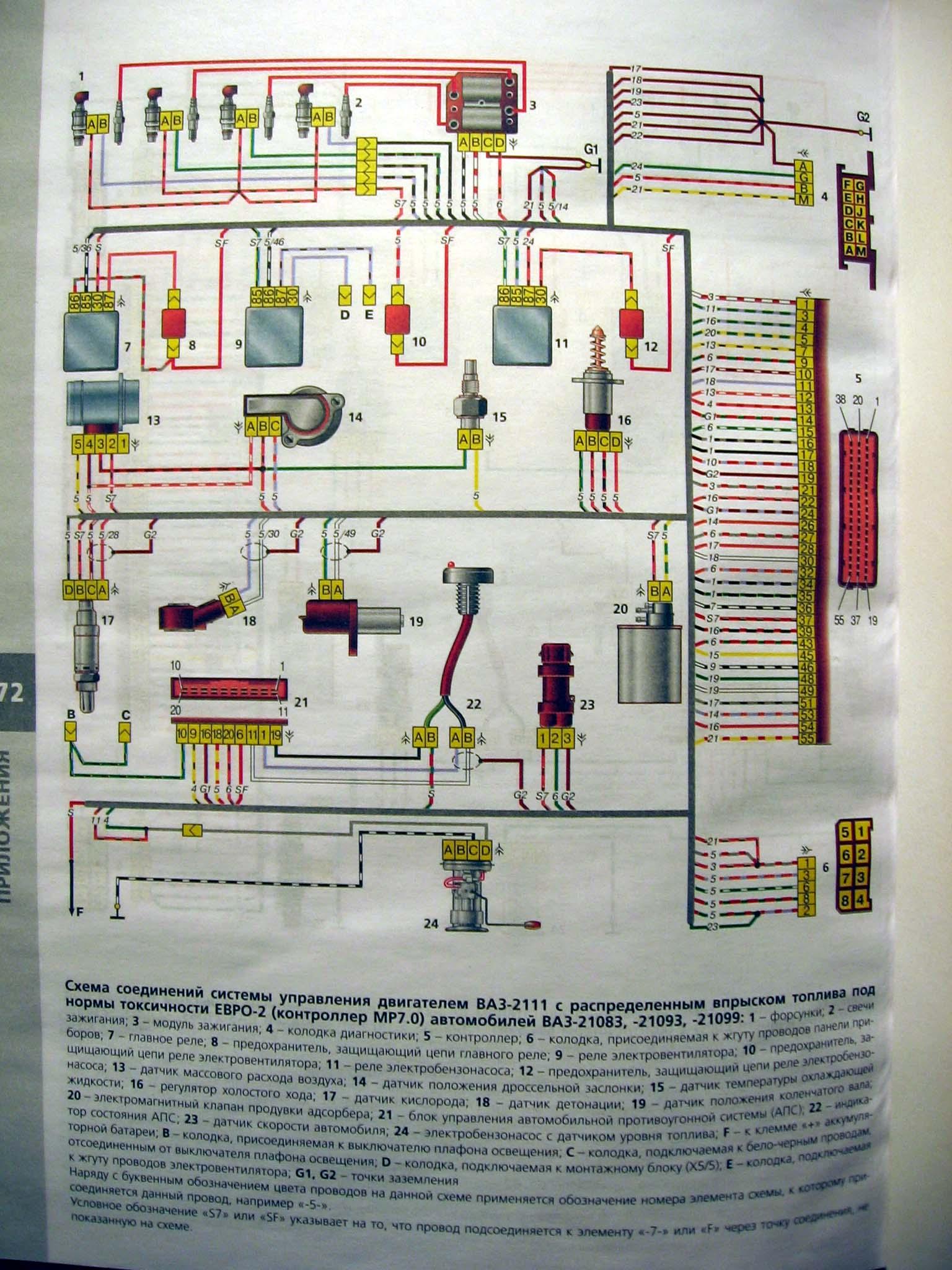 принципиальная схема проводки ваз 09