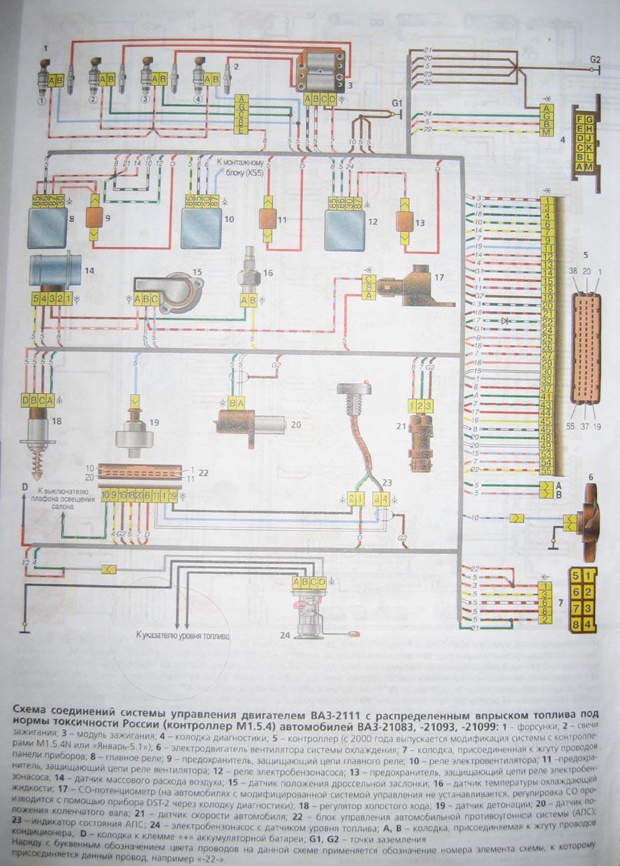 схема подключение диагностики инжекторного двигателя